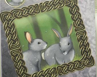 Purple Bunny Fantasy any occasion card
