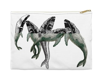 Accessory Pouch BANANA LEAF WHALES
