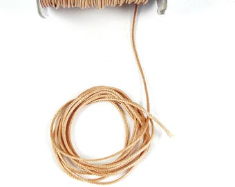 2 meters of faded 1 mm Brown cord