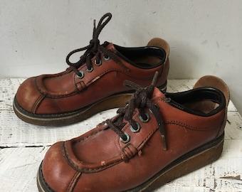 50s leather oxfords sz 6