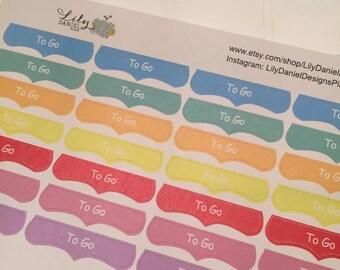 28 Fancy Top Banner To Go Planner Stickers ECLP Erin Condren Life Planner Reminder Sticker LDD1314
