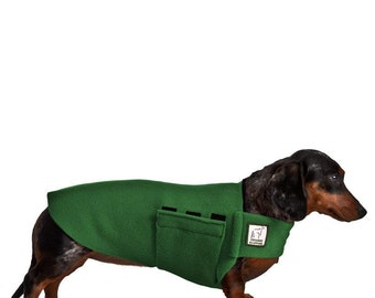 DACHSHUND Tummy Warmer, Fleece Dog Coat, Sweater for Dogs, Small Dog Coat, Dog Clothing, Dog Clothes, Wiener Dog, Dog Vest, Pet Accessories