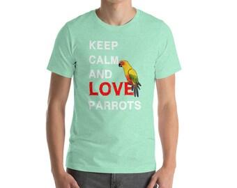 Parrot shirt: Keep calm love parrot tshirt - parrot t shirt