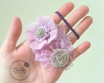 Torri- Purple flower headband, lavender headband, lavender baby headband, purple newborn headband, newborn headband, headband for newborn