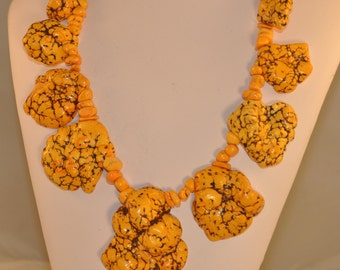Yellow Turquoise Nuggets Necklace