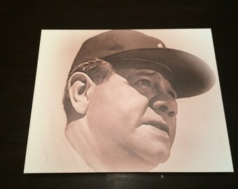 Babe Ruth Sepia Photo on Canvas