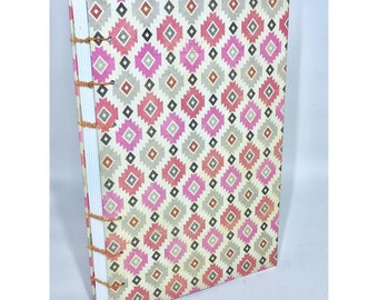 Lined Coptic Bound Journal Heavyweight Paper with Decorated Cover