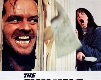 "Original Movie Poster - The Shining (1980) Original British Linen Movie Poster - 27"" x 40"""