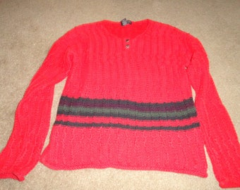 Size Small Vintage sweater 44 in bust 25 in length-sweater-ugly sweater- sweater- ugly christmas sweater--