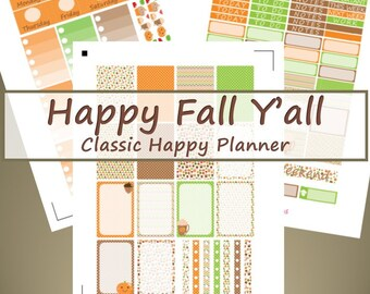 CHP -- Happy Fall Y'all Planner Stickers