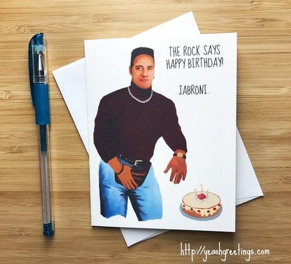 Funny Dwayne Johnson Birthday Card Dwayne Johnson Birthday