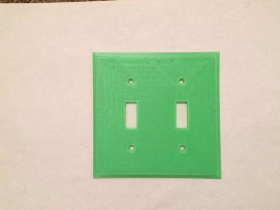 Glow-In-The-Dark Wall Plate - 2 Gang Toggle Switch | Wall Plate | Light Switch | Wall Switch Decor | Wall Plate Cover | Room Decor | Night & Glow-In-The-Dark Wall Plate 2 Gang Toggle Switch Wall