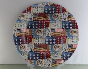 Decorative Patriotic Plate & Patriotic dinnerware   Etsy