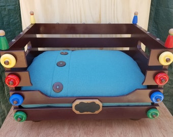 Wooden Crate Pet Bed