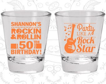 50th Birthday, Rock and Roll Birthday, Party like a Rock Star, Birthday Glasses (20173)