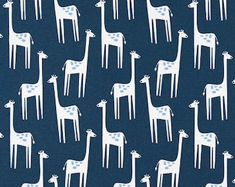 """Premier Prints-PATCHES-Sky Blue-OR-Storm Gray-Giraffe Fabric-Fabric By The Yard-54"""" wide-7 ounce-Cotton Decorator Fabric"""