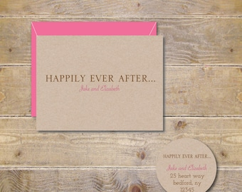 Recycled Wedding Thank You Cards . Wedding Thank You Notes . Thank You Cards Wedding - Happily Ever After
