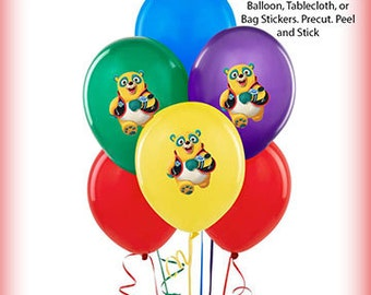 Special Agent Oso Balloon Stickers Precut Decorations Self Adheshive Party Favor Balloon Decals