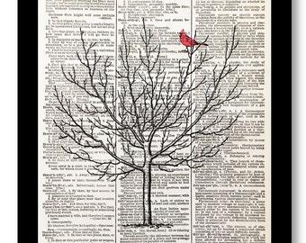 Red Cardinal, Cardinal Bird Print, Red Cardinal Art, Cardinal Bird, Bird Cardinal, 8x10 Cardinal Print, Cardinal Bird Art, Cardinal Print,
