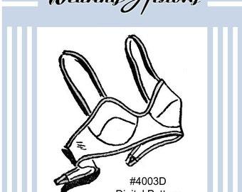 E-Pattern- 1940s Brassiere Bra Sewing Pattern- PDF- Wearing History