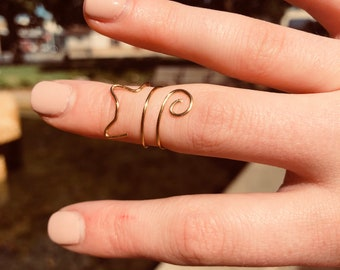 Kitty midi ring