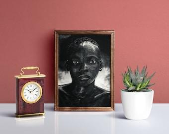 The Boy, Portrait, Illustration, Wall Decor, Print