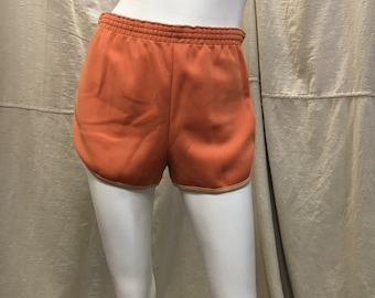 Vintage 70s 80s Gym Shorts Peach Running Shorts// Kmart Shorts Womens Medium Aerobics