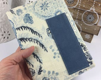 Composition Book Cover with Pocket Blank Journal Cover Travel Notebook Reusable Book Cover Refillable Bullet Journal Gift for Her COMPACT