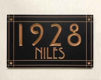 Craftsman Style Address Sign