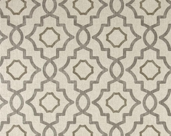 Talbot Metal cotton fabric by the yard diamond medallion Magnolia Home Fashions