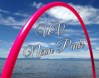 "UV Neon Pink Colored 3/4"" or 5/8"" PolyPro Hula Hoop - You pick the size - by Colorado Hula Hoops"