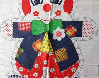 Clown - Sewing Fabric Panel