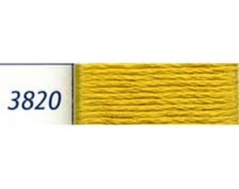 yellow, cotton, embroidery thread yellow corn number 33820 or S 3820 brand DMC