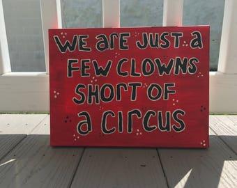 a few clowns short painting