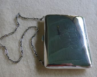 Sterling Silver Victorian Wallet - Edwardian Nouveau Card Case - Sterling Note Pad