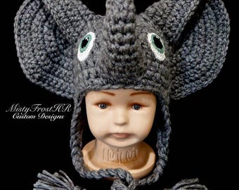 PDF File Only - Ellie the Elephant Crochet Pattern  0-6 mo & 1-3 yr only