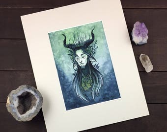 The God of Root and Thorn_Faun_8x10_Watercolor