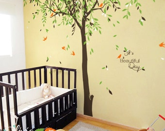 Large Baby nursery Willow Tree vinyl wall decal -NT017
