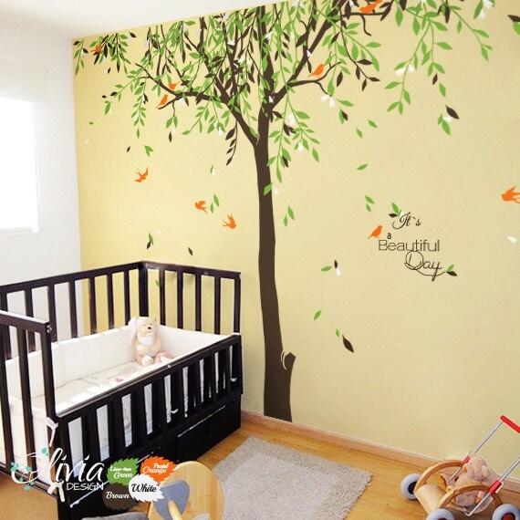 Beautiful Large Baby Nursery Willow Tree Vinyl Wall Decal NT017
