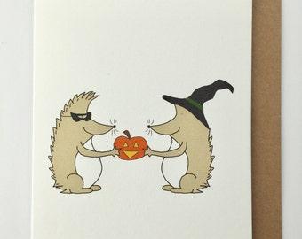 Hedgehog Halloween Card