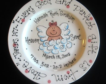 Hand Painted Baby Plate