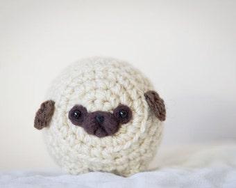 Mystery Pug -Cute Amigurumi Kawaii Crochet Pug