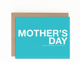 Mom Card, Funny Mother's Day Card, Funny Card for Mom, Happy Mother's Day, Funny Card, Witty Mother's Day Card, Funny Card from Adult Kid