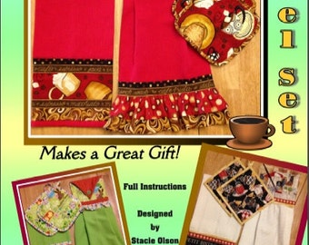 Kitchen Towel Set PATTERN PDF