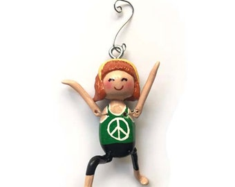 Namaste Collection:  Brenda Mae (Ornament) - Warrior 1 Pose - CAN BE PERSONALIZED w/ Add-On Option