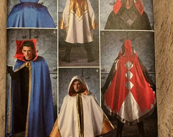 Simplicity #8238 Capes w/Hood Variations Wizard Dr Strange adult costume sewing pattern size One size fits most UC Uncut FF