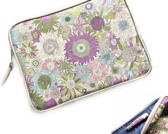 iPad Pro case iPad case with Apple pencil holder  :  LIBERTY of london Small Susanna (Purple) ,iPad Pro sleeve
