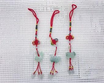 Chinese Zodiac (12 animals) Jade Charms