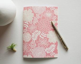 cubicle buddy, lined journal, floral journal, small sketchbook, writing journal, bridesmaid gift, notebook journal, prayer journal, cute