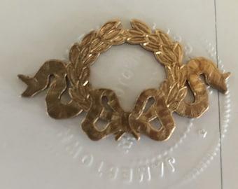 Vintage Laurel Wreath with Ribbon ( 2pc)